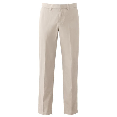 Big & Tall Apt. 9® Modern-Fit Performance Stretch Chino Flat-Front Pants Men's Moonbeam