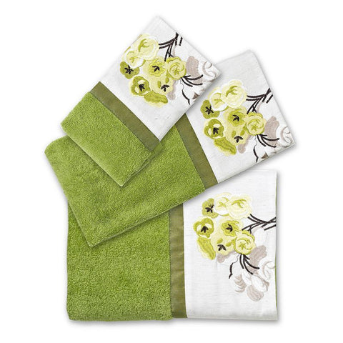 Canteen Flower 3-pc. Bath Towel Set, Green