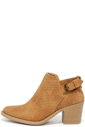 Abbey Road Tan Ankle Booties