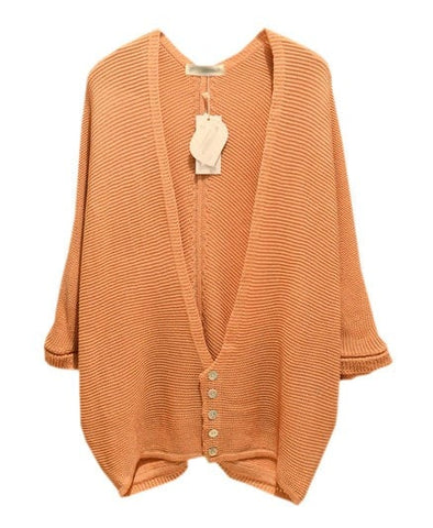 3/4 Sleeve Cardigan with Button Details_267