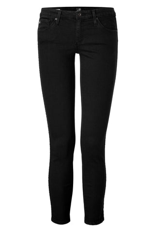 AG Adriano Goldschmied The Remi Ankle Jeans with Stud Trim - black