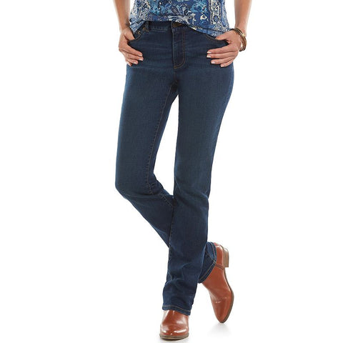 Chaps Modern Fit Straight-Leg Jeans - Women's Maple Wash