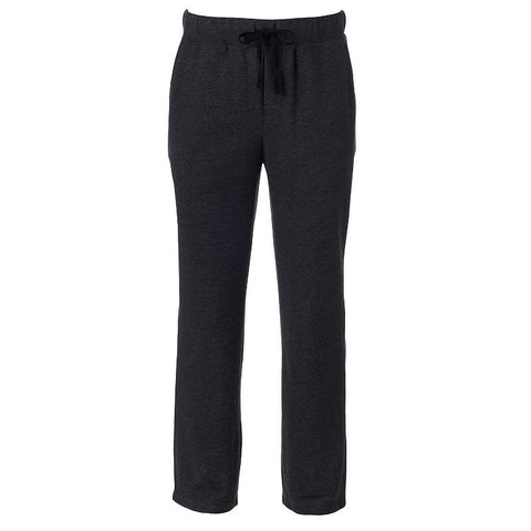 Big & Tall Apt. 9® Modern-Fit French Terry Lounge Pants Men's Dark Grey