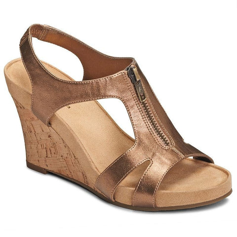 A2 by Aerosoles Dream Plush Women's Core Comfort Wedge Sandals Bronze