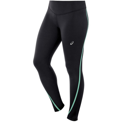 ASICS Lite-Show Cold-Weather Running Tights - Women's Black Mint
