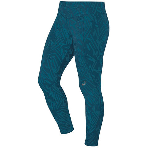ASICS Graphic Running Tights - Women's Mosaic Blue