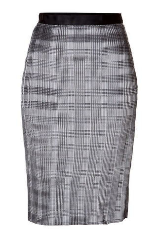 Alexander Wang Pleated Skirt with Raw Edge - grey