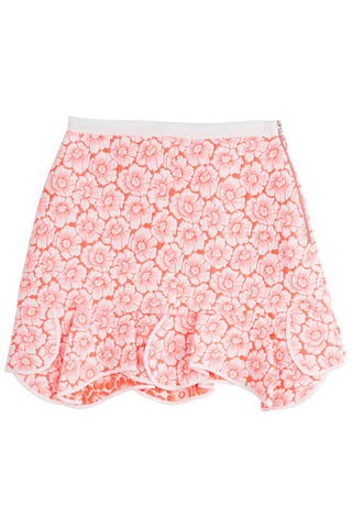 Issa Printed Cotton Blend Skirt - pink