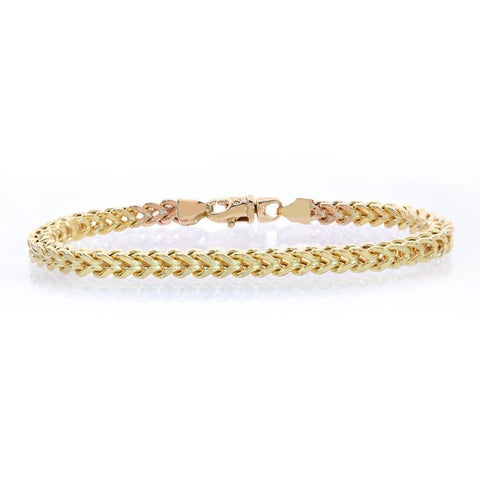 """10K Yellow Gold Franco Bracelet"" - SprintShopping"