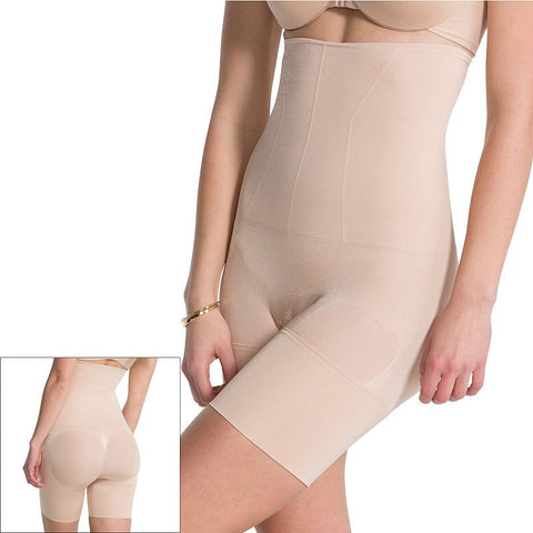 Assets Red Hot Label by Spanx Flat Out Flawless High-Waist Mid-Thigh Body Shaper FS4015 - Women's Lt Beige