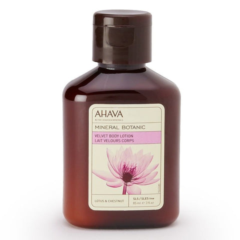 Ahava Mineral Botanic Lotus Flower & Chestnut Cream Body Lotion - Travel Size, Lotus Chestnut, Skin Care