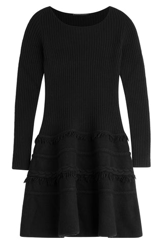 Agnona Knit Dress with Wool and Cashmere - black