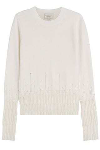 3.1 Phillip Lim Deconstructed Wool Pullover - white