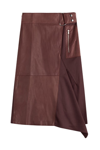 3.1 Phillip Lim Silk-Leather Skirt - purple