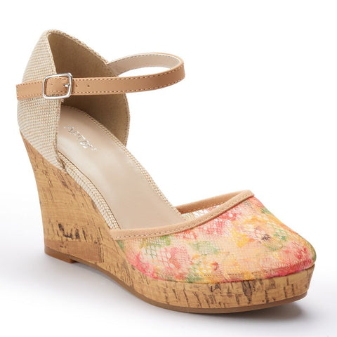 Apt. 9® Women's Lace Platform Wedge Sandals Pink Other