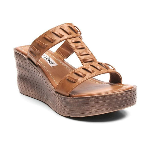 2 Lips Too Too Across Women's Wedge Sandals Girl's Natural