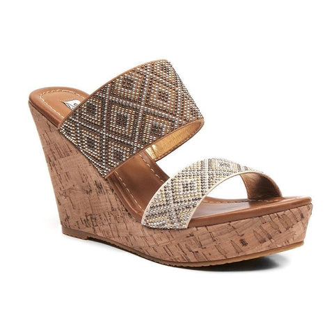 2 Lips Too Too Harlow Women's Wedge Sandals Girl's Dark Beige