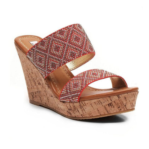 2 Lips Too Too Harlow Women's Wedge Sandals Girl's Red