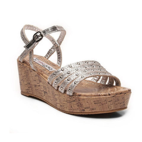 2 Lips Too Too Krisp Women's Wedge Sandals Girl's Silver