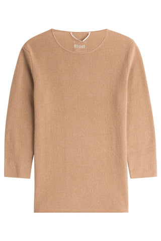 81 Hours by Dear Cashmere Cashmere 3/4 Sleeve Pullover - brown