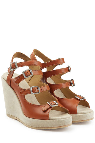A.P.C. Leather Wedges - brown