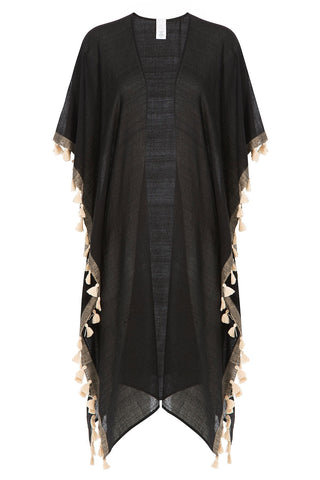 Ale by Alessandra Sheer Cover-Up with Fringe - black