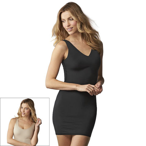 Assets Red Hot Label by Spanx Flipside Firmers Reversible 4-Way Slip 10027R Women's Black And Nude