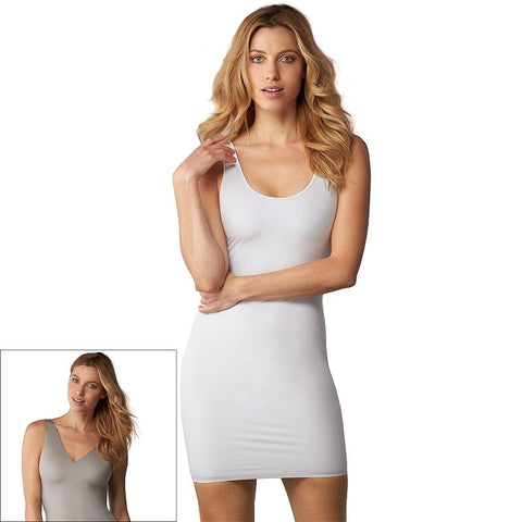 Assets Red Hot Label by Spanx Flipside Firmers Reversible 4-Way Slip 10027R Women's White And Stone