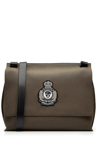 Alexander McQueen Cotton Messenger Bag with Leather - green