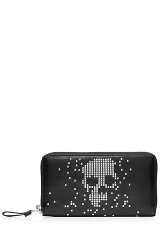 Alexander McQueen Embellished Leather Wallet - black-189