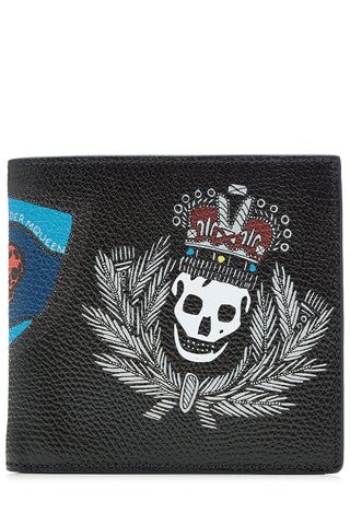 Alexander McQueen Printed Leather Billfold Wallet - multicolor