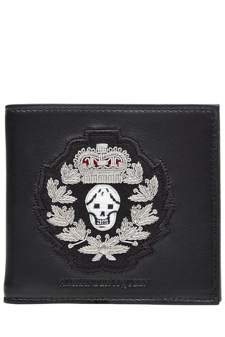 Alexander McQueen Embellished Leather Wallet - black-190