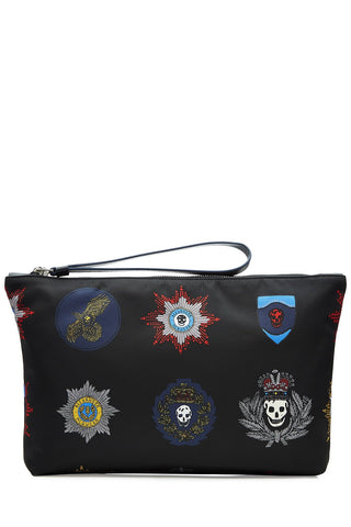 Alexander McQueen Fabric Pouch with Patch Print - multicolor
