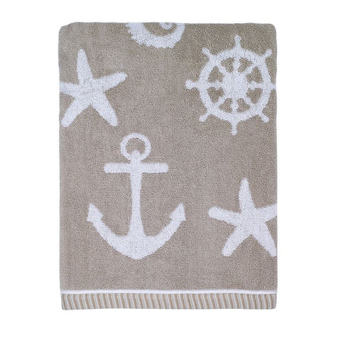 Avanti Sea & Sand Bath Towel, Beig/Khaki