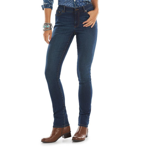 Chaps Curvy Straight-Leg Jeans - Women's Maple Wash