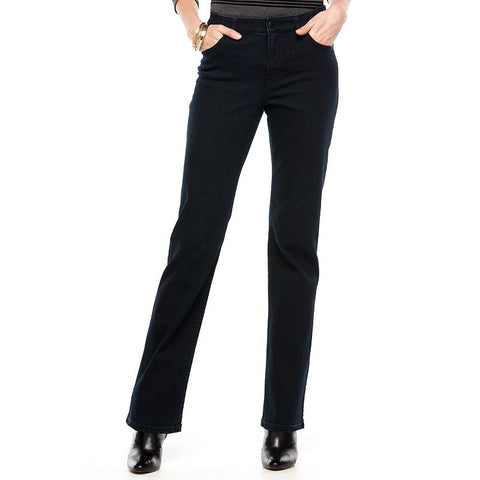 Chaps Curvy Straight-Leg Jeans - Women's Midnight Blue Wash
