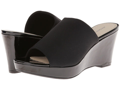 Adrienne Vittadini - Caterena (Black Patent Stretch) Women's Wedge Shoes