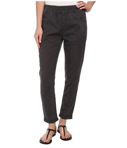 7 For All Mankind - Soft Pant With Cuffed Hem in Grey Enzyme Twill (Grey Enzyme Twill) Women's Casual Pants