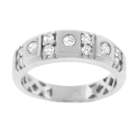 """14K White Gold & Diamond Men's Ring""-2684 - SprintShopping"