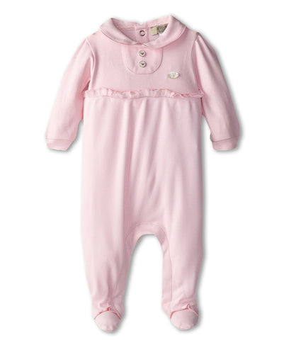 Armani Junior - Tulle Overlay Jumpsuit (Infant) (Pink) Boy's Jumpsuit & Rompers One Piece