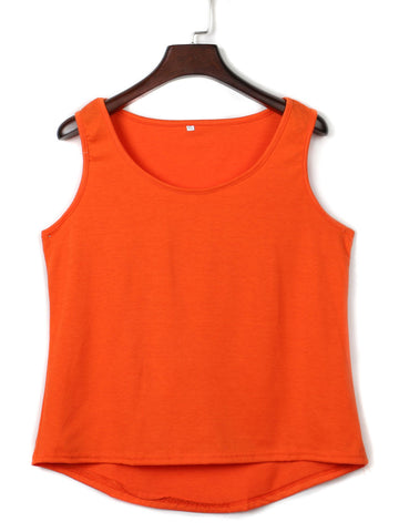 Orange Cut Out Back Hi-lo Vest