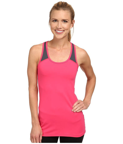 2XU - Essential Racer Tank (Coral Paradise/Charcoal) Women's Workout
