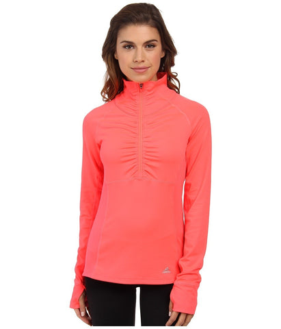 adidas Outdoor - Ultimate Half Zip (Flash Red) Women's Workout
