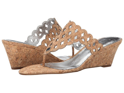 Adrianna Papell - Cache (Natural/Gunmetal Cork) Women's Wedge Shoes
