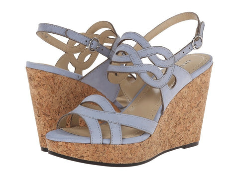 Adrienne Vittadini - Camber (Adriatic Blue Metallic) Women's Wedge Shoes