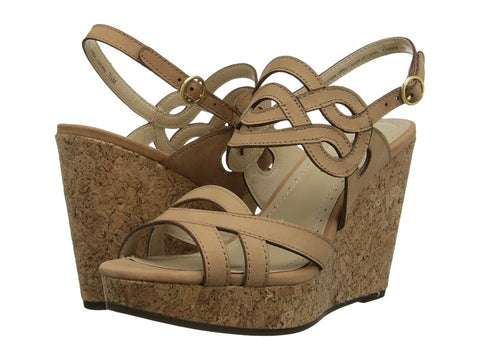 Adrienne Vittadini - Camber (Terracotta Nubuck) Women's Wedge Shoes