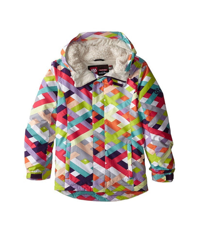 686 Kids - Flora Insulated Jacket (Big Kids) (Grey Ribbons) Girl's Coat