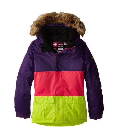 686 Kids - Polly Insulated Jacket (Big Kids) (Violet Colorblock) Girl's Coat