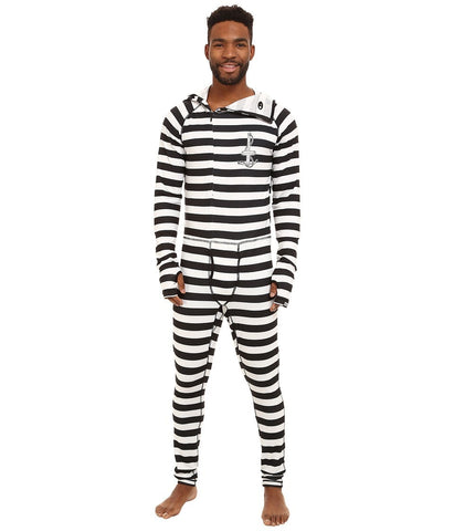 686 - Airhole Thermal One Piece (Jailbird Stripe) Men's Snow Bibs One Piece