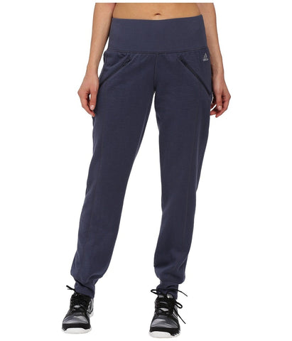 adidas - Cozy Fleece Banded Pants (Midnight Grey) Women's Casual Pants